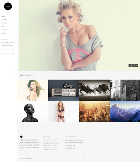 Raw Responsive Photography WordPress Theme